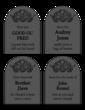 Gravestone Halloween Labels