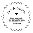 Care Instructions Labels