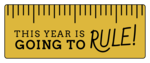 """""""This Year is Going to Rule!"""" Classroom Favor Labels"""
