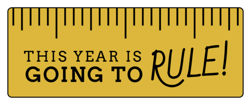 """This Year is Going to Rule!"" Classroom Favor Labels pre-designed label template for OL1809"