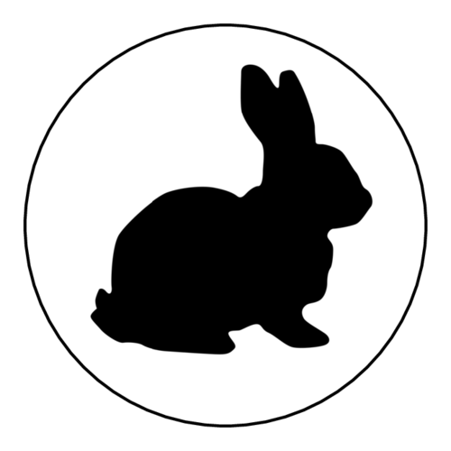 "OL2682 - 2"" Circle - Easter Bunny Stickers"