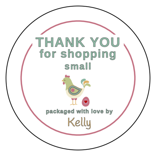Thank You For Shopping Small Labels (Circle)