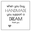 """Support a Dream"" Small Business Labels"
