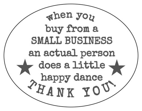 Small Business Thank You Labels (Oval)