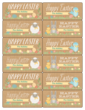 """Happy Easter"" Assorted Gift Tag Labels"