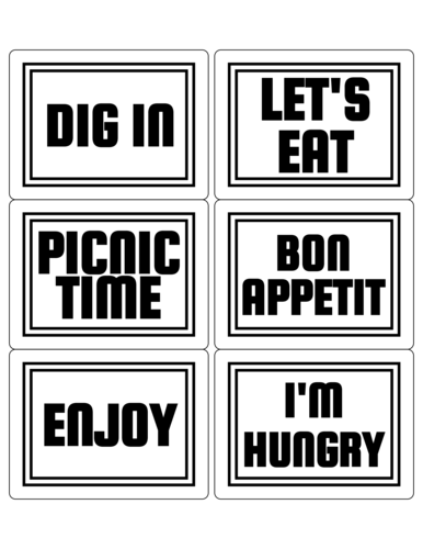 "OL500 - 4"" x 3"" - Picnic Lunch Labels"
