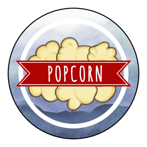 "OL5375 - 2"" Circle - Patriotic Popcorn Labels"