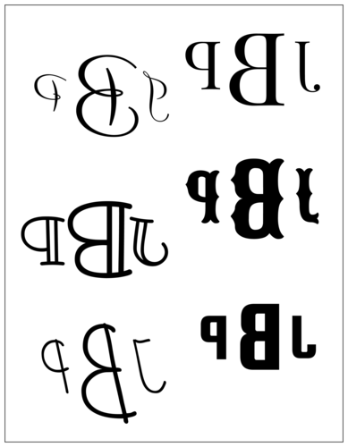 "OL175 - 8.5"" x 11"" - Easy Monogram Labels"