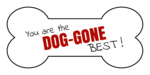 """You are the Dog-Gone Best!"" Dog Bone Labels"