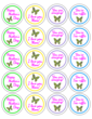 Assorted Mother's Day Butterfly Labels