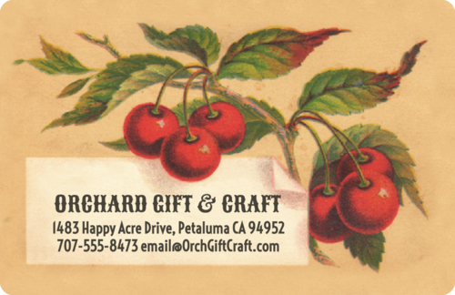 Vintage Cherries Address Labels (Round Corner Rectangle)