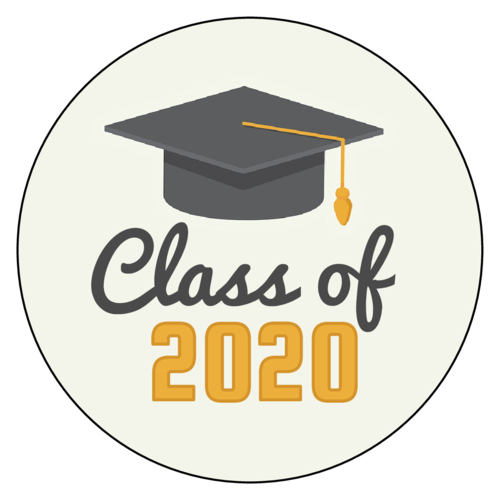 "OL1025 - 1"" Circle - ""Class of"" Graduation Labels"
