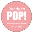 """Ready to POP!"" Baby Shower Labels"