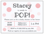 """Ready to Pop!"" Cardstock Baby Shower Invitations"