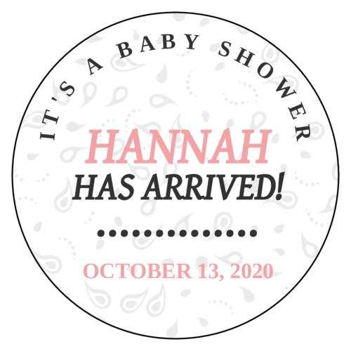 "OL375 - 3.33"" Circle - ""It's a Baby Shower"" Favor Labels"