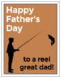 """Happy Father's Day to a Reel Great Dad!"" Cardstock Note Cards"