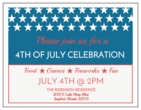 4th of July Cardstock Invitation