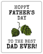 """Hoppy Father's Day"" Beer Bottle Labels"