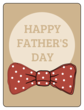 """Happy Father\'s Day"" Bow Tie Gift Labels"