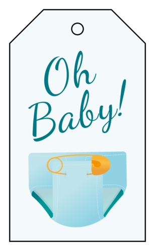 picture relating to Printable Baby Shower Gift Tags titled Boy or girl Shower Label Templates - Get hold of Free of charge Downloadable Child