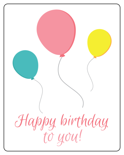 """Happy birthday to you!"" Birthday Gift Labels (Round Corner Rectangle)"