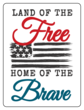 """Land of the Free, Home of the Brave"" Fourth of July Labels"