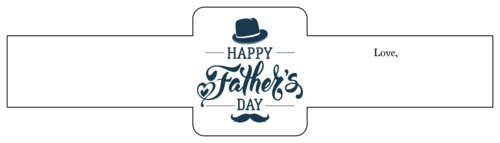 "OL1030 - 8.5"" x 2.25"" - Father's Day Gift Labels"