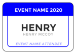 Color Coded Event Name Tag Labels