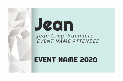 "OL712 - 3.5"" x 2.25"" - Event Name Tag Cardstock Inserts"