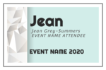 Event Name Tag Cardstock Inserts