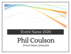 Business Event Cardstock Name Tag Inserts