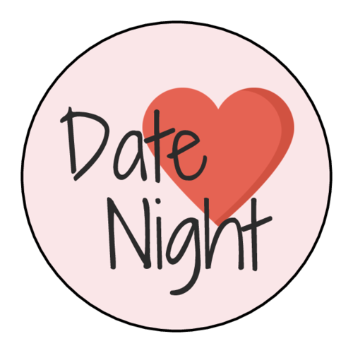 """Date Night"" Planner Labels (Circle)"