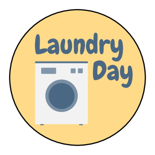 "OL914 - 1.75"" Circle - ""Laundry Day"" Planner Labels"