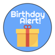 """Birthday Alert!"" Planner Labels"