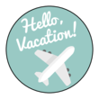 """Hello Vacation!"" Planner Labels"