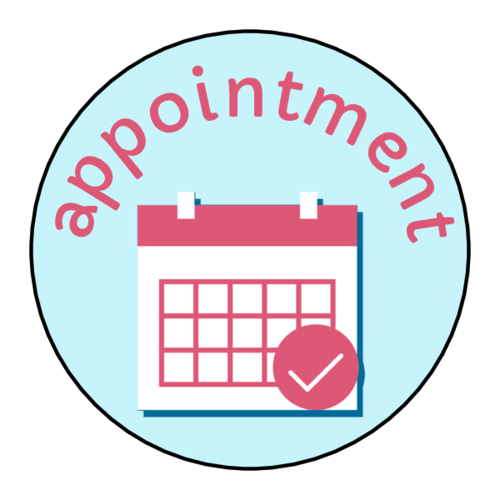"""Appointment"" Planner Labels (Circle)"