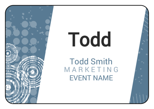 Urban Event Name Tag Labels (Round Corner Rectangle)