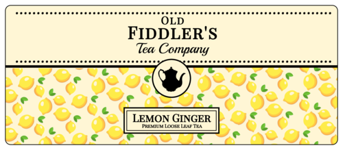 Lemon Loose Leaf Tea Labels pre-designed label template for OL4499