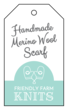 Handmade Scarf Cardstock Gift Tag