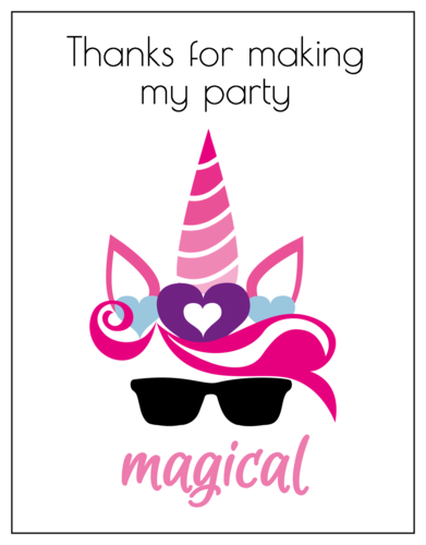 "OL423 - 4.25"" x 5.5""  - ""Thanks For Making My Party Magical"" Thank You Card"