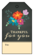 """Thankful for you"" Cardstock Gift Tags"