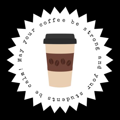 "OL138 - 2.25"" Starburst - Back To School Teacher Coffee Gift"