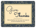 """Give Thanks"" Florid Thanksgiving Labels"