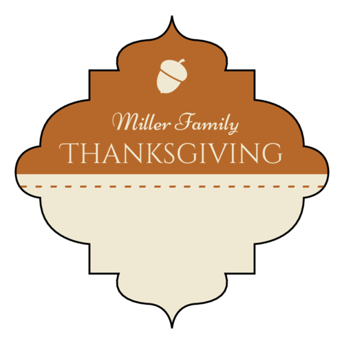 "OL1761 - 2.5"" x 2.5"" - Decorative Write-In Thanksgiving Favor Labels"