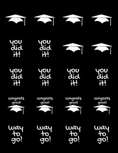 "OL5375 - 2"" Circle - DIY Graduation Favor Labels"