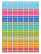 Color-Coded Student Planner Labels