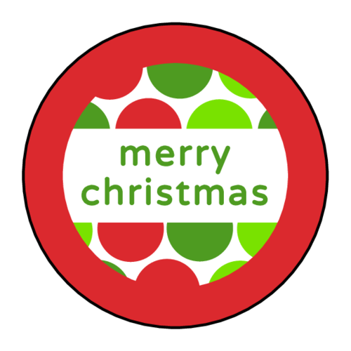 "OL350 - 2.5"" Circle - ""Merry Christmas"" DIY Gift Tag Labels"