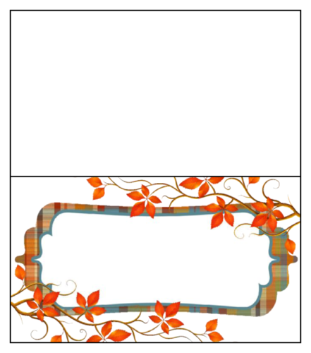 Thanksgiving/Autumn/Fall Label Template: Plaid leaves
