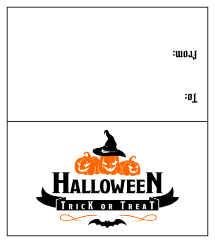 Halloween Treat Bag Toppers pre-designed label template for OL1443