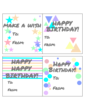 Assorted Birthday Gift Tags